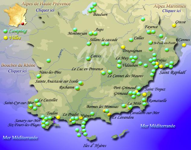 Le Var Carte De France | My blog